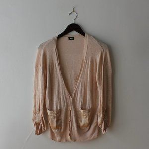 Light pink vest/cardigan